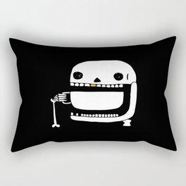 Espresso Skull Rectangular Pillow