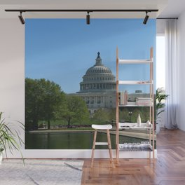 Capitol View With Reflection Pool Washington DC Wall Mural