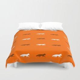 Orange Foxes! Duvet Cover