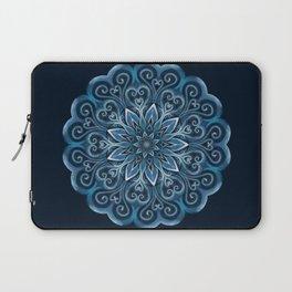 Blue Water Mandala Swirl Laptop Sleeve