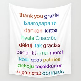 Thank you in different languages Wall Tapestry