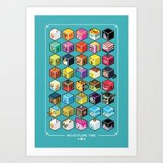 A.T. Cubies (40 CHARACTERS) Art Print