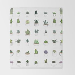 Succulents Pattern design Throw Blanket