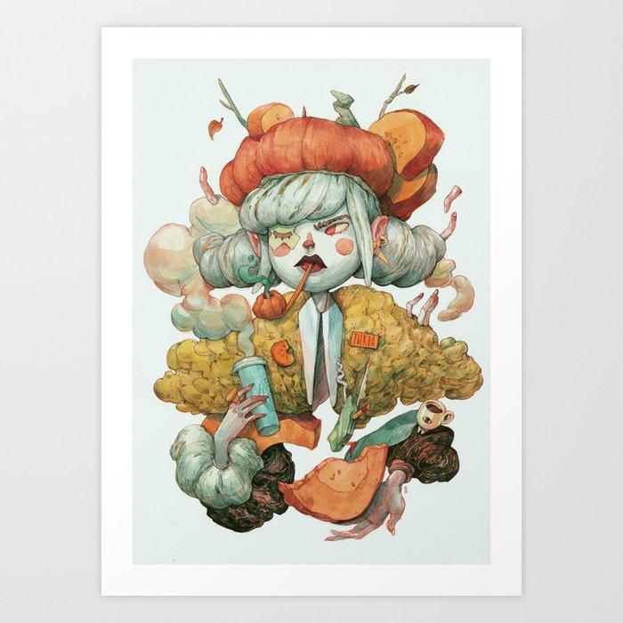 The Pumpkin Lady Kunstdrucke