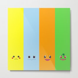 The Great Of Pika Face Metal Print