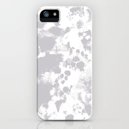 Grey - pattern painting gray and white minimal modern art large stretched canvas minimal decor iPhone Case