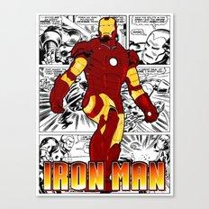 Iron Man Comic Canvas Print