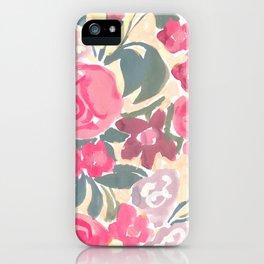 Cream Floral iPhone Case