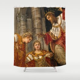 """Tintoretto (Jacopo Robusti) """"Esther and Ahasuerus"""" Shower Curtain"""