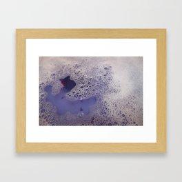 Violet Bubbles Framed Art Print