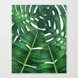 Tropical palm art Canvas Print