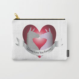 Llama Love You Forever in Color Carry-All Pouch