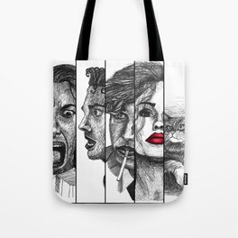 Film Noir Collage Tote Bag