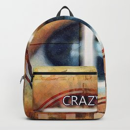 Crazy I Am Graphically Manipulated Photography Backpack