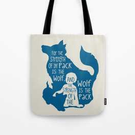 Strength of the Pack - Wolf and Child Tote Bag