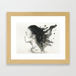 Close Your Eyes Framed Art Print