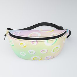 Colorful Loopy Rainbow Pastel Design! Fanny Pack