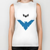 nightwing Biker Tanks featuring Nightwing by JHTY