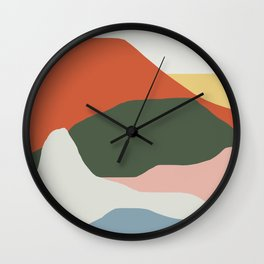 Mountains of Colors Wall Clock