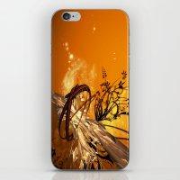 orange pattern iPhone & iPod Skins featuring ORANGE PATTERN by Ylenia Pizzetti