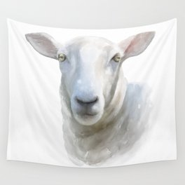 Watercolor Sheep Wall Tapestry