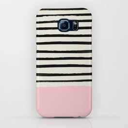 Millennial Pink x Stripes iPhone Case