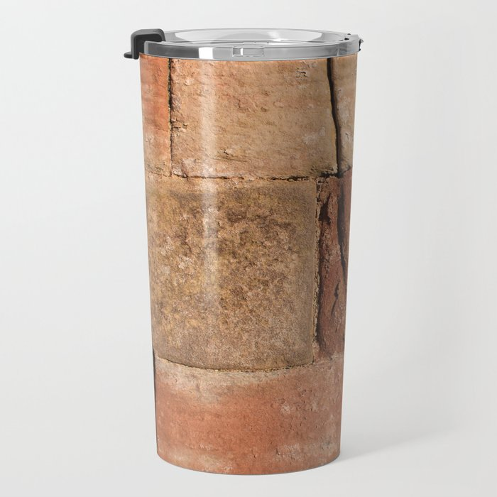 Ancient Sandstone Wall Travel Mug
