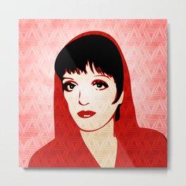 Liza Minnelli - Warhol Era - Pop Art Metal Print