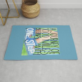 A Journey of 1000 Miles Rug