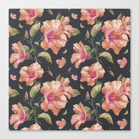 hibiscus Canvas Prints featuring Hibiscus by 83 Oranges™