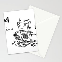 404 Page Not Found Stationery Cards