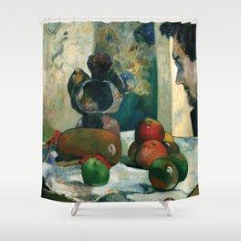 "Paul Gauguin - Still Life with Profile of Laval ""Nature morte au pofil de Laval"" (1886) Shower Curtain"