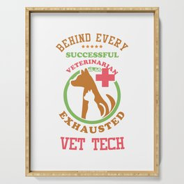 Vet Tech Veterinarians Vet Assistant Animal Care Veterinary Animal Lovers Gifts Serving Tray