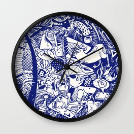 chock-full circle Wall Clock