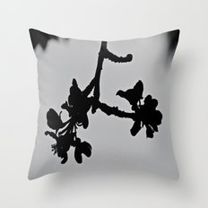Blooming Silhouette Throw Pillow