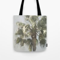 palm tree Tote Bags featuring Palm Tree by Pure Nature Photos