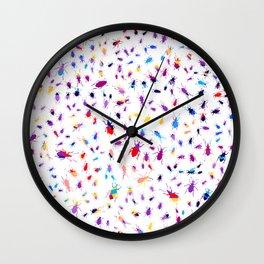 Bugs, Colorful Creepy Crawlies Wall Clock