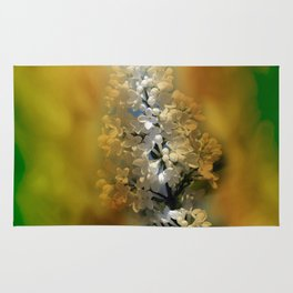 white lilac on textured background -b- Rug