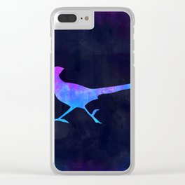 ROADRUNNER IN SPACE // Animal Graphic Art // Watercolor Canvas Painting // Modern Minimal Cute Clear iPhone Case