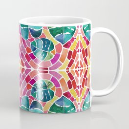 WATERCOLOR MONSTERA MOSAIC Coffee Mug