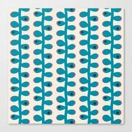 Like a Leaf [blue spots] Canvas Print