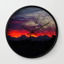 Darkness Ascending Wall Clock
