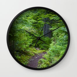 Walk through the Forest Wall Clock