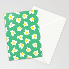 Eggs Over Green Stationery Cards