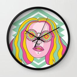 Kaleidoscope Eyes Wall Clock