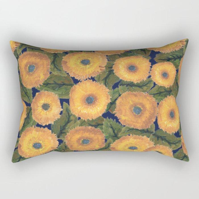 Sunflower afternoon Rectangular Pillow