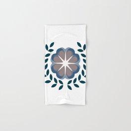 floral wreath // blue Hand & Bath Towel
