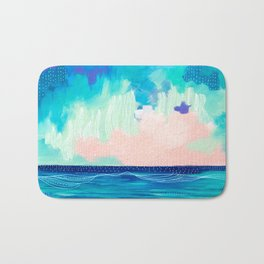 Abstract Seascape X Bath Mat
