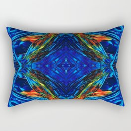 Colorful Blue Abstract - Peace With The Past by Sharon Cummings Rectangular Pillow