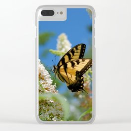 Bright Butterfly - Tiger Swallowtail Clear iPhone Case